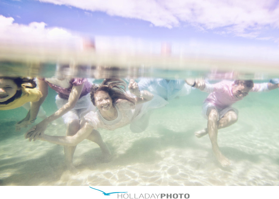 Hawaii Family Portrait beach and underwater photography