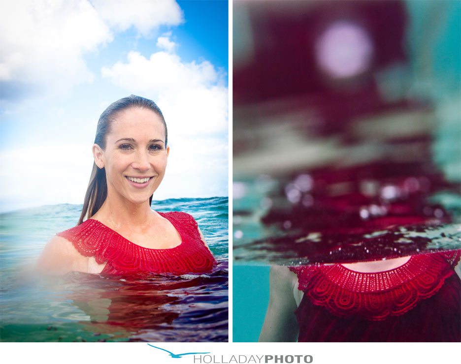 Laie Underwater family photographer