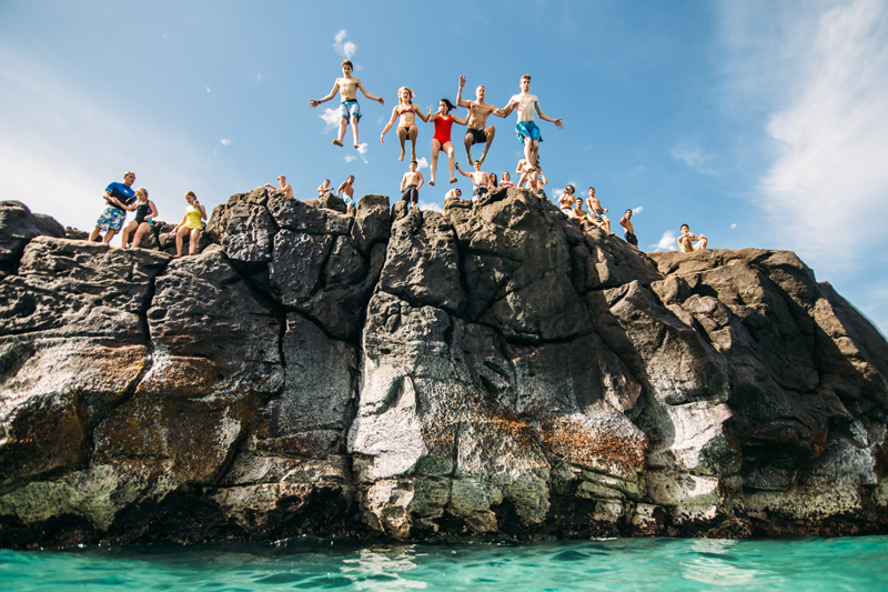 rock jump Hawaii